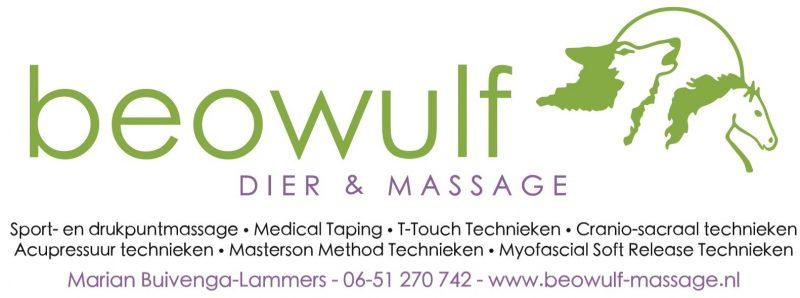 Sponsor uitgelicht: Beowulf Dier en Massage (incl. aantrekkelijke korting voor leden)